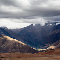 Landscape scenery between Moray and Maras VIllage.