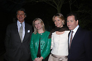 Arnaud Bamberger, Viscountess Linley, Mrs. Arnaud Bamberger, and Viscount Linley. Cartier dinner after thecharity preview of the Chelsea Flower show. Chelsea Physic Garden. 23 May 2005. ONE TIME USE ONLY - DO NOT ARCHIVE  © Copyright Photograph by Dafydd Jones 66 Stockwell Park Rd. London SW9 0DA Tel 020 7733 0108 www.dafjones.com