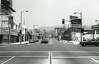 1973 Looking north at Cahuenga Blvd. & Sunset Blvd.