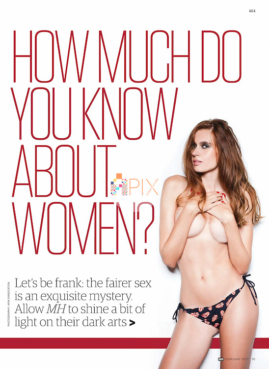 How much do you know about women?  Foxy Florenta helps you work it out in the February issue of Men's Health magazine, Australia.<br /> <br /> Images from our shoot 'Florenta Popa', available for worldwide use with approval:  http://www.apixsyndication.com/gallery/Florenta-Popa/G0000FqAyl5mzZXg/C0000uY5ybhhaPaQ
