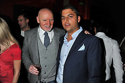 Left to right, SIR TOM HUNTER and JAMIE REUBEN at the 39th birthday party for Nick Candy in association with Ciroc Vodka held at 5 Cavindish Square, London on 21st Januatu 2012.