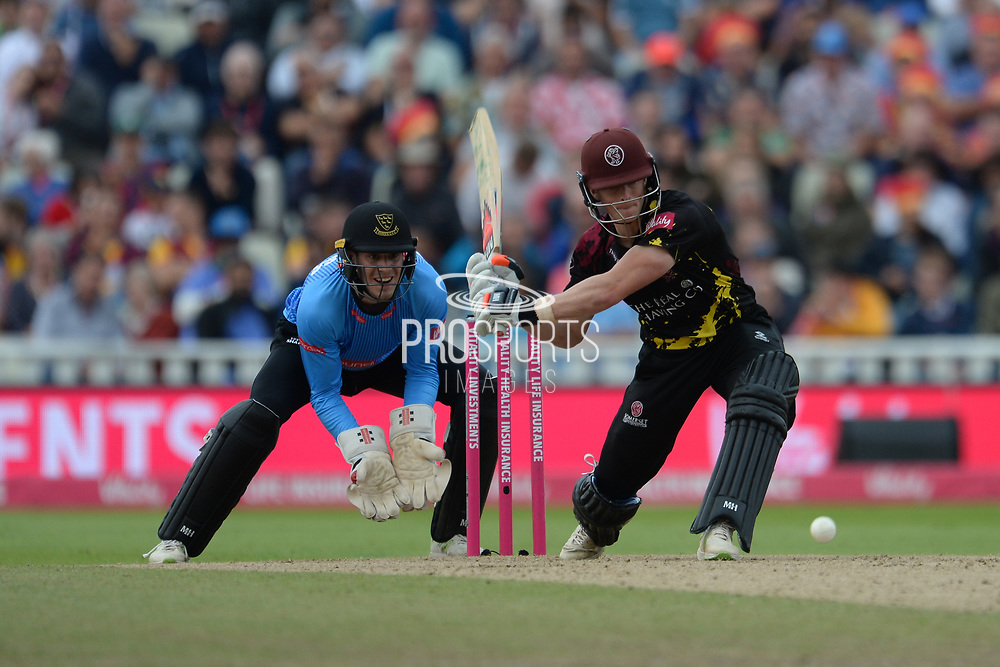 Tom Abel of Somerset batting during the Vitality T20 Finals Day semi final 2018 match between Sussex Sharks and Somerset County Cricket Club at Edgbaston, Birmingham, United Kingdom on 15 September 2018.