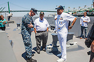 Navy Days LA 2014 in the Port of Los Angeles. Two Navy vessels, the USS Anchorage (LPD-23) and the USS Spruance (DDG-111), sailed in the Port of los Angeles Harbor for the week long event.