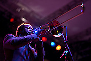 The Maceo Parker Band performs at Bumbershoot 2013 in Seattle, WA USA