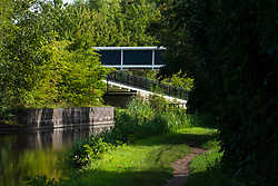 Tinsley and Sheffield Canal Footbridge close to the Sheffield Outer Ring Road bridge looking towards Tinsley Marina<br />  06 September 2020<br /> <br /> www.pauldaviddrabble.co.uk<br /> All Images Copyright Paul David Drabble - <br /> All rights Reserved - <br /> Moral Rights Asserted -