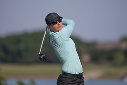 May 6, 2018 - The Colony, TX, U.S. - THE COLONY, TX - MAY 06: Lindy Duncan (USA) hits from the 6th tee during the Volunteers of America LPGA Texas Classic on May 6, 2018 at the Old American Golf Club in The Colony, TX. (Photo by George Walker/Icon Sportswire) (Credit Image: © George Walker/Icon SMI via ZUMA Press)