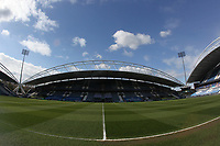 A general view of The John Smith's Stadium the home of Huddersfield Town<br /> <br /> Photographer Mick Walker/CameraSport<br /> <br /> The EFL Sky Bet Championship - Huddersfield Town v Bournemouth - Tuesday 13 April 2021 - The John Smith's Stadium - Huddersfield<br /> <br /> World Copyright © 2020 CameraSport. All rights reserved. 43 Linden Ave. Countesthorpe. Leicester. England. LE8 5PG - Tel: +44 (0) 116 277 4147 - admin@camerasport.com - www.camerasport.com