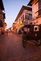 Calle Crisologo is one of the main attractions in the city of Vigan. It is a well preserved cobblestone street a few hundred meters in length and lined with many old restored buildings taking visitors back a century or two during the Spanish colonial period.