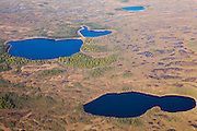 Lakes and muskeg tundra outside Anchorage, Alaska.