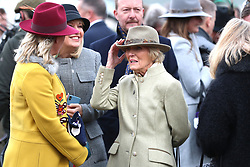 Mary Berry during Ladies Day of the 2019 Cheltenham Festival at Cheltenham Racecourse.