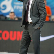 FC Barcelona Regal's coach Xavier Pascual during their Euroleague Final Four semifinal Game 2 basketball match Olympiacos's between FC Barcelona Regal at the Sinan Erdem Arena in Istanbul at Turkey on Friday, May, 11, 2012. Photo by TURKPIX