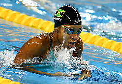 Alia Atkinson of Jamaica compete in the Women 100m Breaststroke Final of FINA/airweave Swimming World Cup Doha 2017 at the Hamad Aquatic Centre in Doha , capital of Qatar on October. 04, 2017.Alia Atkinson claimed the title with 1:04.21 second (Xinhua/Nikku (Credit Image: © Nikku/Xinhua via ZUMA Wire)