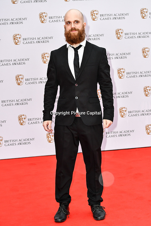 Luc Baghadoust Arrivers at the British Academy (BAFTA) Games Awards at Queen Elizabeth Hall, Southbank Centre  on 4 March 2019, London, UK.