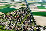 Nederland, Noord-Holland, Hollands Kroon, 07-05-2018; Slootdorp, dorp in de Wieringermeer gelegen aan de Slootvaart.<br /> Polder village, Wieringermeer polder.<br /> luchtfoto (toeslag op standaard tarieven);<br /> aerial photo (additional fee required);<br /> copyright foto/photo Siebe Swart