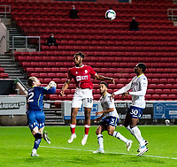 Football - 2020 / 2021 EFL Carabao Cup - Round Three - Bristol City vs  Aston Villa<br />  <br /> Jed Steer of Aston Villa punches clear, at Ashton Gate.<br />  <br /> COLORSPORT/SIMON KING