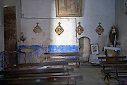 inside a small old church