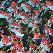 Trabzonspor's supporters during their UEFA Champions League group stage matchday 5 soccer match Trabzonspor between Inter at the Avni Aker Stadium at Trabzon Turkey on Tuesday, 22 November 2011. Photo by TURKPIX