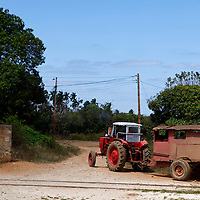 Central America, Cuba, Remedios. Farm tractor of Remidios.