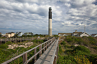NC00557-00...NORTH CAROLINA - Oak Island Lighthouse at Caswell Beach near the mouth of the Cape Fear River.