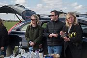 LIZA PHILLIPS; SAM PHILLIPS; CATHERINE CAZALET;, Heythrop Point to Point, Cocklebarrow, 2 April 2017.