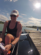 Munich, GERMANY,    General Views, GV's,  of the Boathouse and  Boating Area, CAN W8+,  Janine HANSON.  Boating for their morning training outing. 2012 World Cup III on the Munich Olympic Rowing Course,  Thursday  14/06/2012  [Mandatory Credit Peter Spurrier/ Intersport Images]..