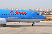 Israel, Ben-Gurion international Airport Neos Airlines Boeing 737-800