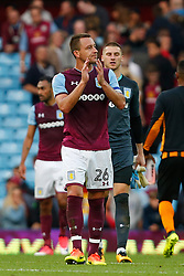 Aston Villa's John Terry claps the home fans after the Sky Bet Championship match at Villa Park, Birmingham.