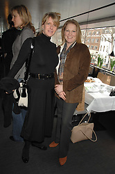 Left to right, FIONA GOLFAR wife of actor Robert Fox and VISCOUNTESS GORMANSTON at a lunch to celebrate the launch of the Top Tips for Girls website (toptips.com) founded by Kate Reardon held at Armani, Brompton Road, London on 5th March 2007.<br /><br />NON EXCLUSIVE - WORLD RIGHTS