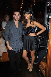 SHAYNE WARD and JAMEELA JAMIL at a party to celebrate the 10th anniversary of the Myla lingerie brand held at Almada, 17 Berkeley Street, London on 17th November 2010.