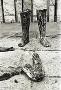 Statue of Wolfe Tone Blown up in Dublin.08/02/1971