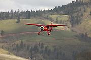 1936 Stinson SR-8B Reliant on final at WAAAM.