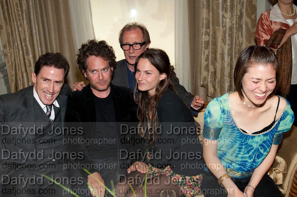 ROB BRYDON; TOM HOLLANDER; BILL NIGHY; FRAN HICKMAN; JANE WILD;  Langham Hotel party after a major renovation. Portland Place, London. 10 June 2009