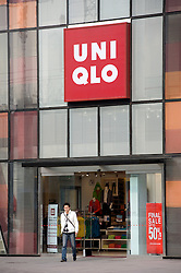 Entrance to new UniQlo fashion flagship store in Sanlitun Beijing 2009