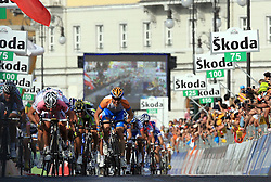 Sprint at finish line of 2nd stage of 92nd Giro d'Italia in Trieste, on May 10, 2009, in Trieste, Italia.  (Photo by Vid Ponikvar / Sportida)