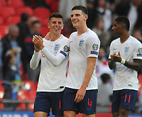 Football - 2018 / 2019 UEFA European Championships Qualifier - Group A: England vs. Bulgaria<br /> <br /> Debut boy, Mason Mount with Declan Rice after the match, at Wembley Stadium.<br /> <br /> COLORSPORT/ANDREW COWIE
