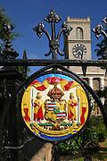 State seal, Kawaihao Church, Honolulu, Hawaii<br />