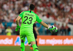 March 23, 2018 - Miami Gardens, Florida, USA - Croatia goalkeeper Danijel Subasic (23) in action during a FIFA World Cup 2018 preparation match between the Peru National Soccer Team and the Croatia National Soccer Team at the Hard Rock Stadium in Miami Gardens, Florida. (Credit Image: © Mario Houben via ZUMA Wire)
