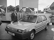 "Nissan Launches New ""Sunny""..1986..21.08.1986..08.21.1986..21st August 1986..Nissan Ireland launched the all new integrated Sunny range on to the Irish market.The launch was the European premiere of this model and marked a significant second phase in the rationalisation of the Nissan Product range. The first Phase was the launch of the Bluebird range in February of this year. The Launch took place at Nissan House, Naas Road Dublin...Pictured at the Nissan ""Sunny"" launch were Mr Michael Murphy,Sales Director,Nissan Ireland and Mr Tony Kelly,Deputy Managing Director,Nissan Ireland."