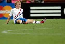 25-06-2006 VOETBAL: FIFA WORLD CUP: NEDERLAND - PORTUGAL: NURNBERG<br /> Oranje verliest in een beladen duel met 1-0 van Portugal en is uitgeschakeld / Dirk Kuyt<br /> ©2006-WWW.FOTOHOOGENDOORN.NL