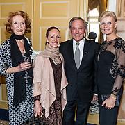 NLD/Amsterdam/20170326 - Pr. Margarita en Sheila de Vries presenteren nieuwe sieradencollectie, Frank Wentink, partner Lydia Derksen en Gerrie van der Kleij