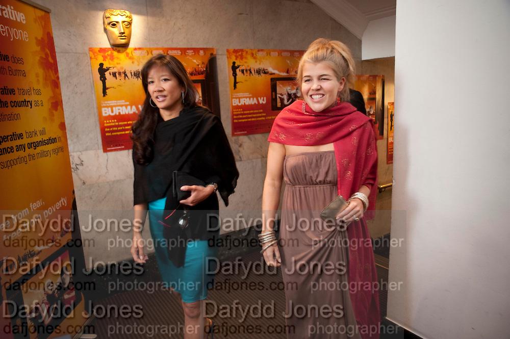LISA TSENG; AMBER NUTTALL, ÒSAFFRON TUESDAYÓ UK PREMIERE OF BURMA VJ <br />  BAFTA, Piccadilly, LONDON. 14 July 2009<br /> LISA TSENG; AMBER NUTTALL, ?SAFFRON TUESDAY? UK PREMIERE OF BURMA VJ <br />  BAFTA, Piccadilly, LONDON. 14 July 2009