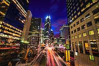 La Défense à la Nuit (Business District at Night)