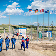 Volgodeminoil and Wintershall personnel at the oil plant in Volgograd.