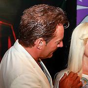 NLD/Amsterdam/20130710 - Onthulling wassen beelden van Abba door Gerard Joling in Madame Tussauds , Gerard Joling en het wassen beeld van Abba zangres Agnetha Faltskog