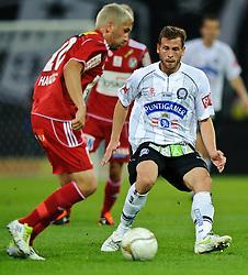02.10.2011, UPC Arena, Graz, AUT, 1. FBL, Sturm vs Ried, im Bild Juergen Saeumel, (Sturm, #28), Anel Hadzic, (Ried, #20), EXPA Pictures © 2011, PhotoCredit: EXPA/ S. Zangrando