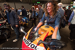 Honda display at EICMA, the largest international motorcycle exhibition in the world. Milan, Italy. November 19, 2015.  Photography ©2015 Michael Lichter.