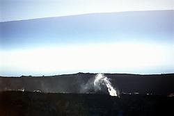 Halema`uma`u Crater and Mauna Loa, Kilauea Caldera, Hawaii Volcanoes National Park, Big Island, Hawaii