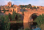 SPAIN, LA MANCHA, TOLEDO San Martin bridge above the Rio Tajo