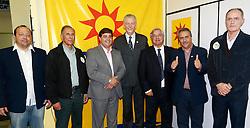 Presidentes dos partidos da frente politica cidadã declaram apoio à  candidatura de José Fortunati, na sede do PPS. FOTO: Jefferson Bernardes/Preview.com