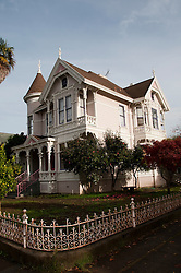 California: Napa City, Victorian architecture seen during George Webber historic tour.  Photo copyright Lee Foster.  Photo # canapa107062
